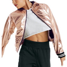 Load image into Gallery viewer, Metallic Bomber Jacket (Unisex)