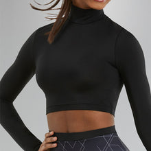 Load image into Gallery viewer, Long Sleeve Turtleneck Crop