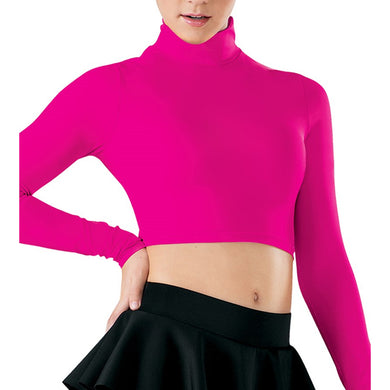Long Sleeve Turtleneck Crop