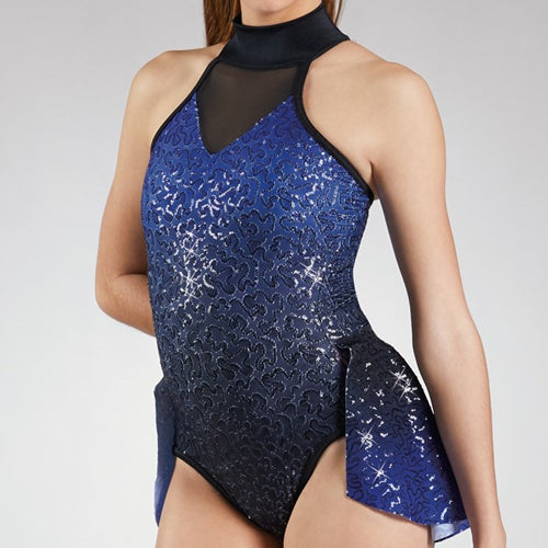 Ombre Back Panel Leotard