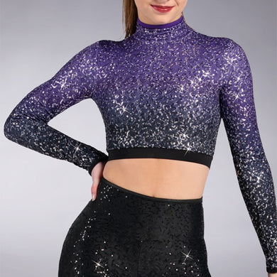 Ombre Sequin Crop Top
