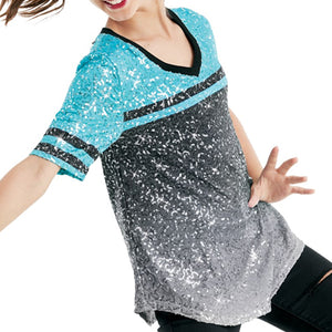 Ombre Sequin Performance Tee