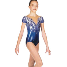 Load image into Gallery viewer, Cap-Sleeve Aerobic Gymnastics Leotard