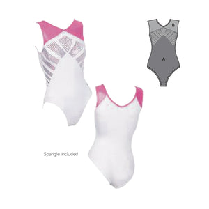 V Neck Spangle Leotard