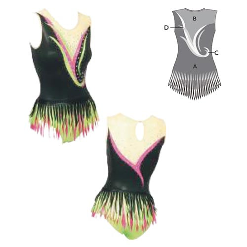 Firebird Fringe Rhythmic Gymnastics Leotard