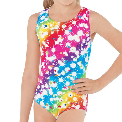 Rainbow Star Print Leotard