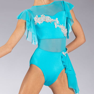Ruffled Applique Leotard