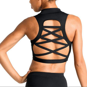 Zip Front Scuba Crop Top