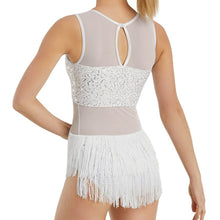 Load image into Gallery viewer, Sequin Leotard with Fringe