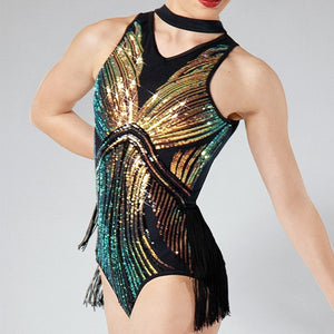 Flowing Sequin Leotard