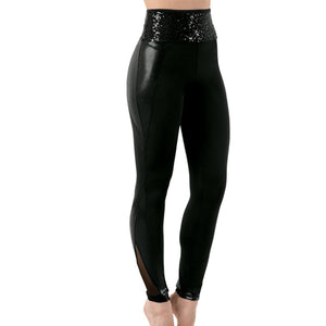 Sequin Waistband Leggings