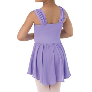 Girls Shirred Sleeve Dress