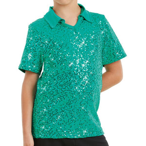 Sequin Collar Shirt