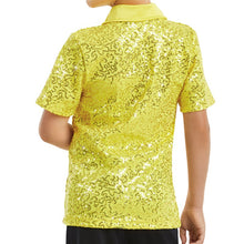 Load image into Gallery viewer, Sequin Collar Shirt