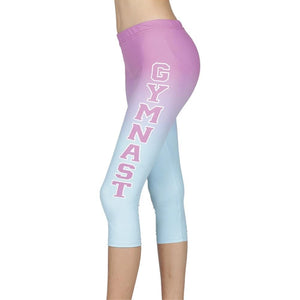 Gymnastics Sublimated 3/4 Leggings