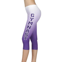 Load image into Gallery viewer, Gymnastics Sublimated 3/4 Leggings