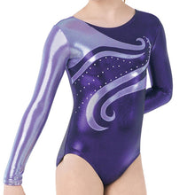 Load image into Gallery viewer, Swirl Long Sleeve Leotard