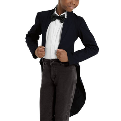 Wide Shoulder Twill Tailcoat