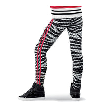 Load image into Gallery viewer, Sequin Crop and Zebra Print Legging Set