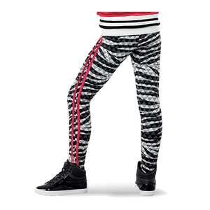 Sequin Crop and Zebra Print Legging Set