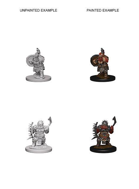 Discount Pathfinder Deep Cuts Unpainted Miniatures Dwarf Male Barbarian - West Coast Games