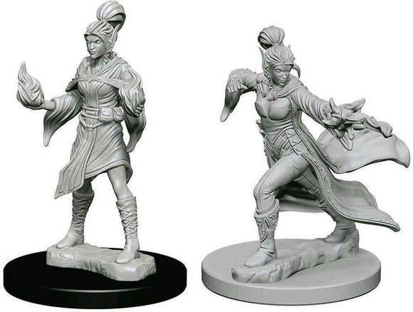 Discount Pathfinder Deep Cuts Unpainted Miniatures Elf Female Sorcerer - West Coast Games