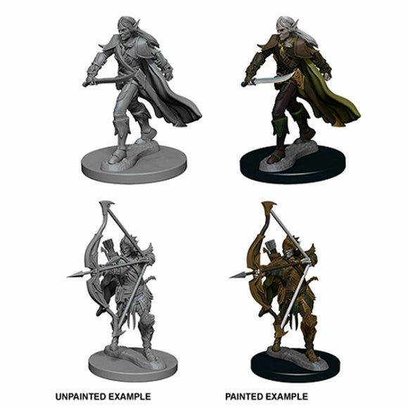 Discount Pathfinder Deep Cuts Unpainted Miniatures Elf Male Fighter - West Coast Games