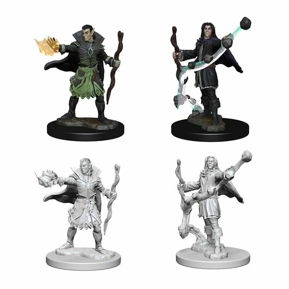 Discount Pathfinder Deep Cuts Unpainted Miniatures Elf Male Sorcerer - West Coast Games