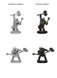 Discount Pathfinder Deep Cuts Unpainted Miniatures Half-Orc Male Barbarian - West Coast Games