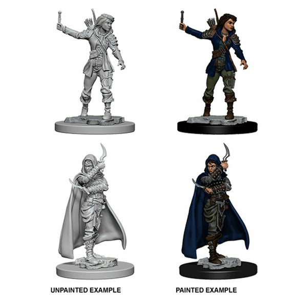 Discount Pathfinder Deep Cuts Unpainted Miniatures Human Female Rogue - West Coast Games