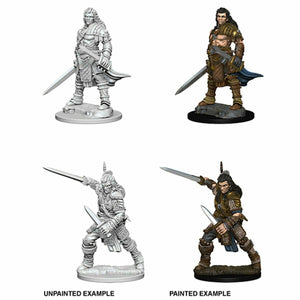Discount Pathfinder Deep Cuts Unpainted Miniatures Human Male Fighter - West Coast Games