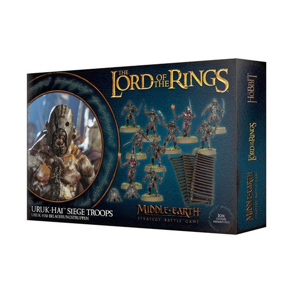 Discount The Lord of the Rings Uruk-hai Siege Troops - West Coast Games