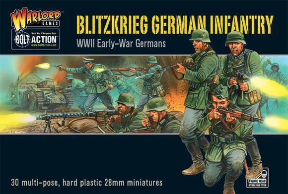 Discount Warlord Games Bolt Action Blitzkrieg German Infantry - West Coast Games