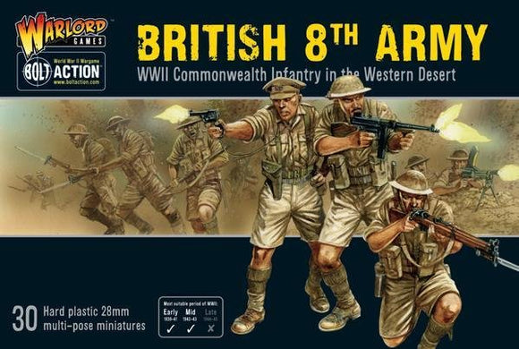 Discount Warlord Games Bolt Action British 8th Army - West Coast Games