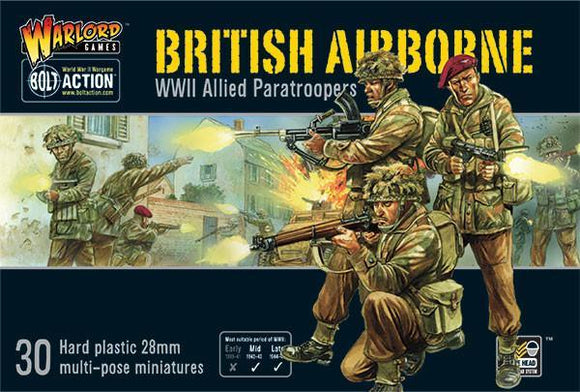 Discount Warlord Games Bolt Action British Airborne WWII Allied Paratroopers Box Set - West Coast Games