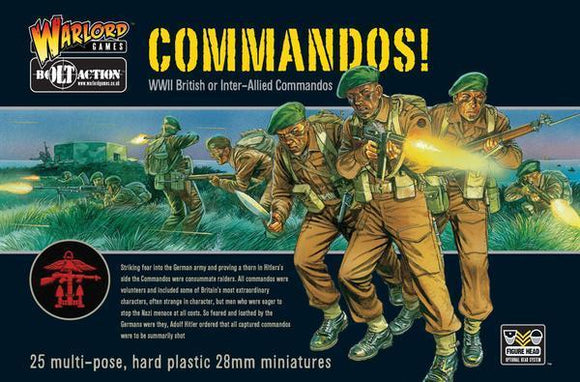 Discount Warlord Games Bolt Action Commandos! - West Coast Games