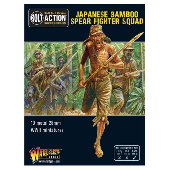 Discount Warlord Games Bolt Action Japanese Bamboo Spear Fighter Squad - West Coast Games