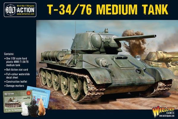 Discount Warlord Games Bolt Action Soviet T34/76 Medium Tank - West Coast Games