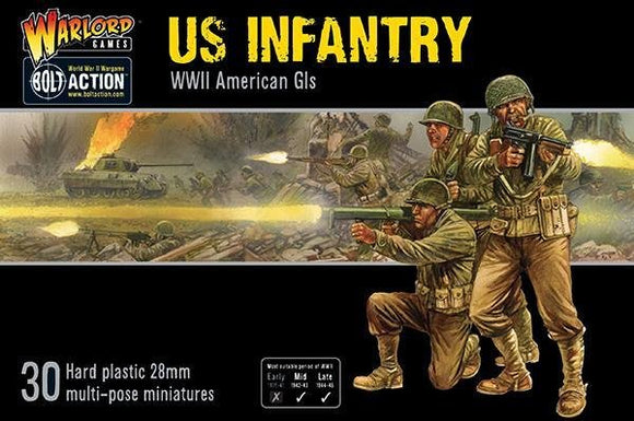 Discount Warlord Games Bolt Action US Infantry WWII American GIs - West Coast Games