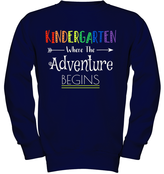 Kindergarten Where The Adventure Begins Cute Gift T-shirt
