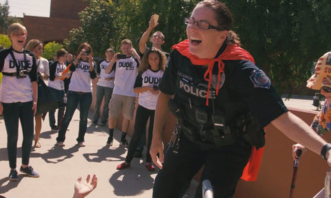 Watch wild police chase on high school campus.
