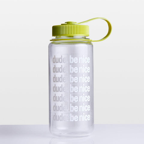 16 OZ Wide Mouth Water Bottle (Green Top)