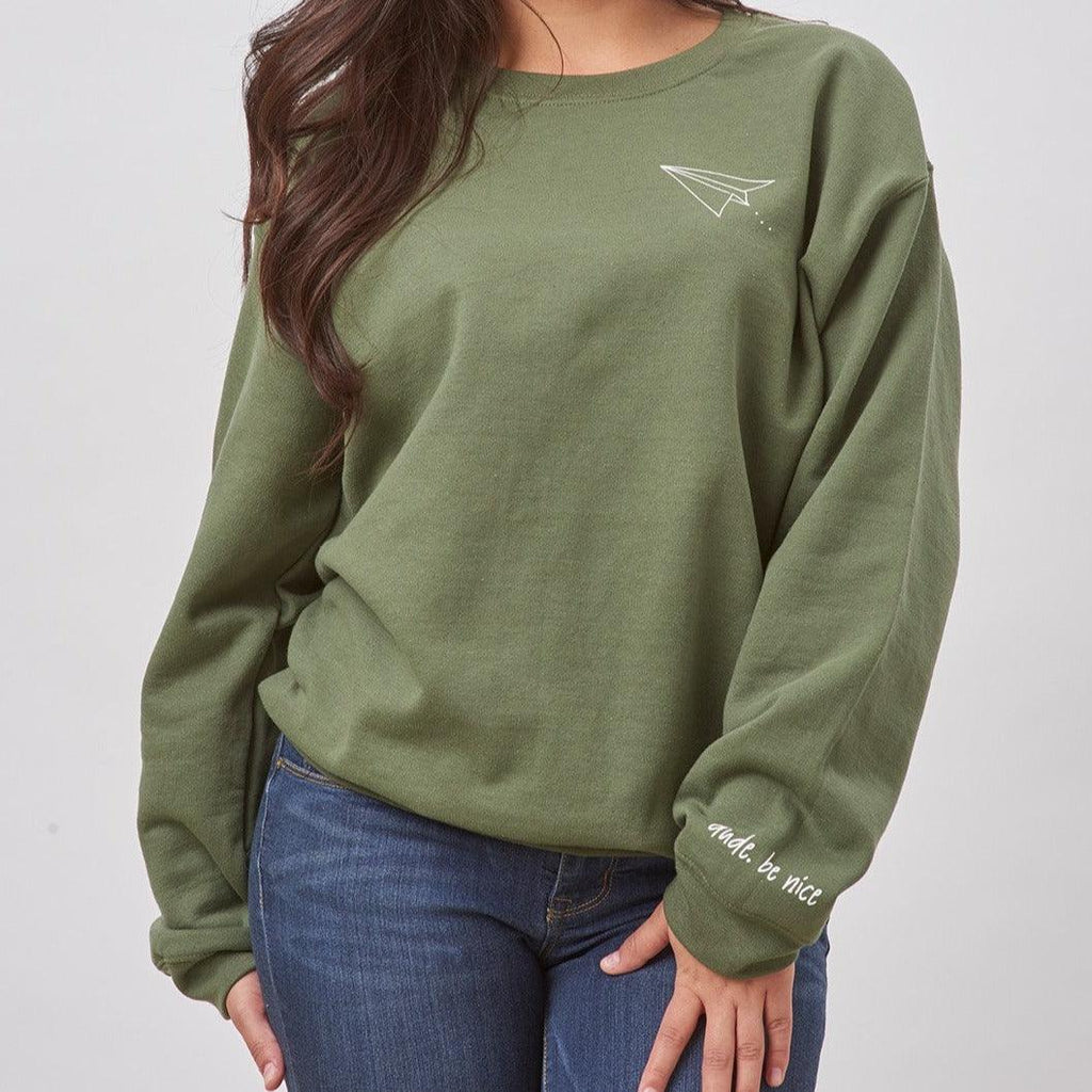 Paper Airplane Crewneck Sweatshirt