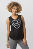 Hand Drawn Heart Muscle Tank
