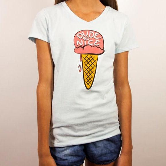 Single Scoop V-Neck (Youth Girls)