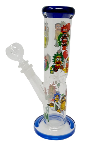 Rick & Morty Blue 10 inch Glass Bong