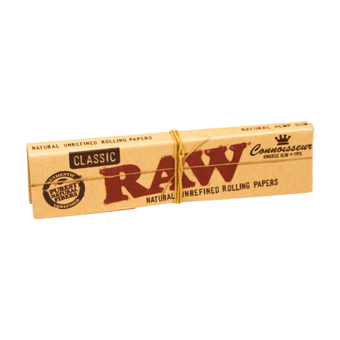 Raw Classic Connoisseur King Size Slim Filter Tips Natural Unrefined Rolling Paper
