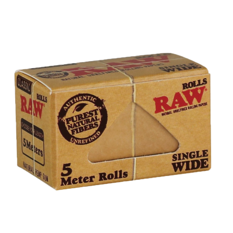Raw Classic Single Wide 5 Meter Roll Natural Unrefined Rolling Paper