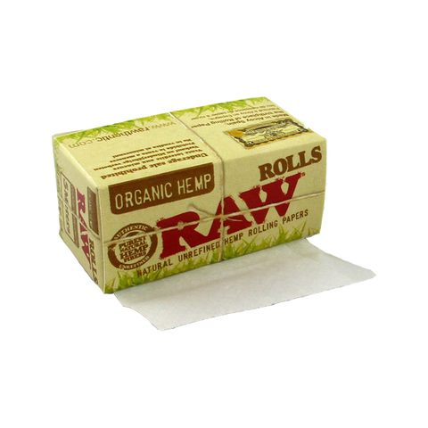 Raw Organic Hemp 5 Meter Roll Natural Unrefined Rolling Paper