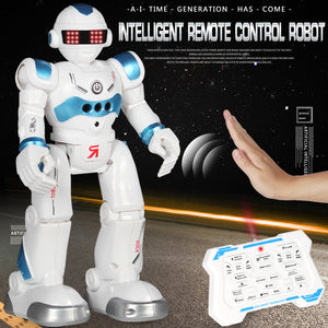 Intellectual Gesture Sensor & Rechargeable Robot Toys for Kids with Walking,Sliding Turning Singing Dancing Speaking